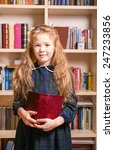 girl with book | Shutterstock . vector #247233856