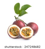 passion fruit isolated on white ... | Shutterstock . vector #247248682