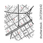 sketch of city map for your... | Shutterstock .eps vector #247254142