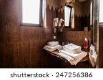 washbasin in the bathroom....   Shutterstock . vector #247256386