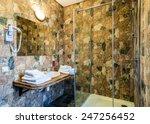 interior of a modern bathroom....   Shutterstock . vector #247256452