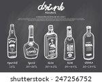 hand drawn drink menu on... | Shutterstock .eps vector #247256752