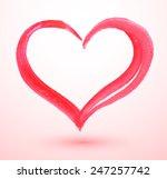 watercolor valentine heart.... | Shutterstock .eps vector #247257742