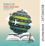 world travel design open book... | Shutterstock .eps vector #247260238