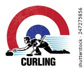 Curling Sport. Vector...