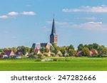 Small Dutch Village With Churc...