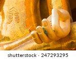 Hand Of Big Golden Buddha...
