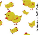 bright watercolor chick. vector ... | Shutterstock .eps vector #247293646