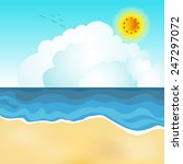 an image of a beach scene. | Shutterstock .eps vector #247297072
