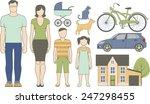 vector set of various family... | Shutterstock .eps vector #247298455