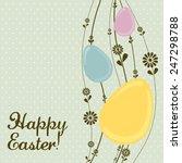 vintage easter egg template...   Shutterstock .eps vector #247298788