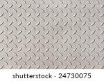 detail of diamond plate steel | Shutterstock . vector #24730075