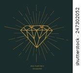 symbol of diamond shape on star ... | Shutterstock .eps vector #247302052