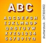vibrant colors retro 3d graphic ... | Shutterstock .eps vector #247303402