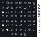 Icon Set Of Laundry  Washing...