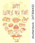 happy chinese new year food... | Shutterstock .eps vector #247306432