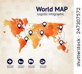 logistics infographic. business ... | Shutterstock .eps vector #247307572
