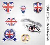 icon set with flag of united... | Shutterstock .eps vector #247311568