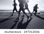 group of runners compete in the ... | Shutterstock . vector #247312036