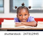 afroamerican female student... | Shutterstock . vector #247312945