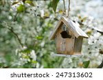 Little Birdhouse In Spring With ...