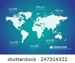 world map  | Shutterstock .eps vector #247314322