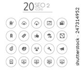 simple thin seo set 2 icons on... | Shutterstock .eps vector #247314952