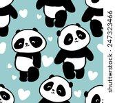 pattern with cute panda seamless   Shutterstock .eps vector #247323466