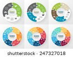 vector circle puzzle... | Shutterstock .eps vector #247327018