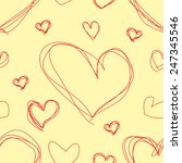 seamless texture valentine's day | Shutterstock . vector #247345546