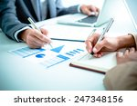 business people discussing the... | Shutterstock . vector #247348156