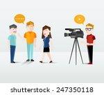 people filming using video... | Shutterstock .eps vector #247350118