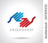 handshake abstract logo vector... | Shutterstock .eps vector #247355152