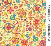 seamless pattern of spring...   Shutterstock .eps vector #247358572