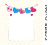 paper frame with stitched... | Shutterstock . vector #247360336