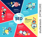 Seo Infographic Set With...