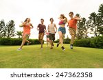 cheerful asian young people... | Shutterstock . vector #247362358