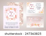 watercolor wedding invitation   ... | Shutterstock .eps vector #247363825