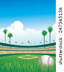 baseball game | Shutterstock .eps vector #247365136