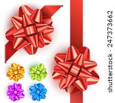 set of realistic colored gift... | Shutterstock .eps vector #247373662