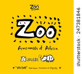 hand drawn animal illustration  ... | Shutterstock .eps vector #247381846