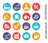 industrial web icon set | Shutterstock .eps vector #247399396