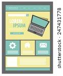 web design template. vector