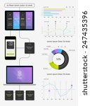 vector elements of infographics ...