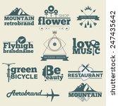 retro hipster vintage labels... | Shutterstock .eps vector #247435642