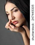 beautiful young woman.fashion...   Shutterstock . vector #247445335