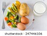 my plate diet guide   food...   Shutterstock . vector #247446106