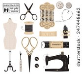 vintage vector tailor's tools   ... | Shutterstock .eps vector #247448662