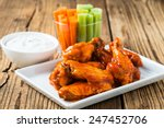 buffalo chicken wings with... | Shutterstock . vector #247452706