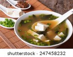 Japanese Miso Soup In A White...